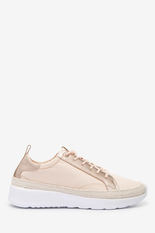 Pink Espadrille Trainers
