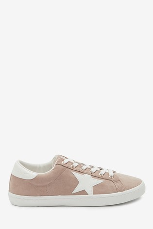 Blush Star Lace-Up Trainers