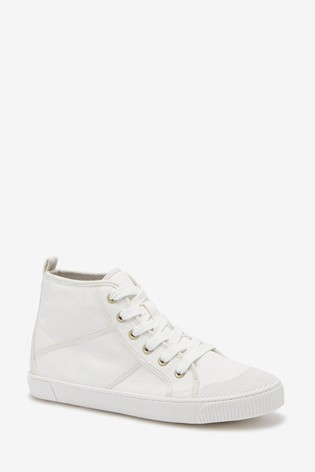 White High Top Trainers