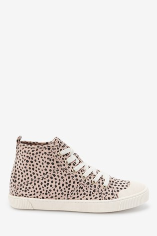 Animal Print High Top Trainers