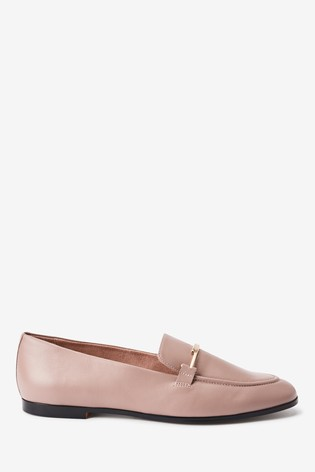 Nude Leather Forever Comfort® Hardware Loafers