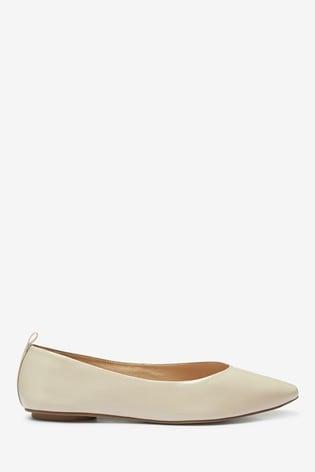 Bone Signature Forever Comfort® Leather Ballerina Shoes