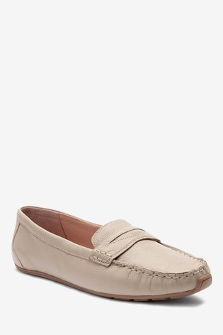Blush Leather Forever Comfort® Driver Shoes