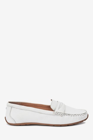 White Leather Forever™ Driver Shoes