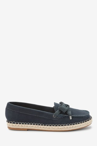 Navy Espadrille Boat Shoes
