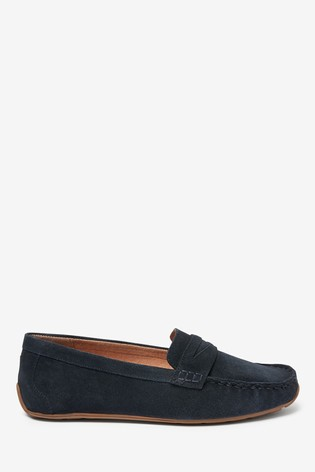 Navy Suede Leather Forever™ Driver Shoes
