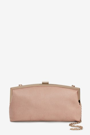 Nude Frame Clutch Bag