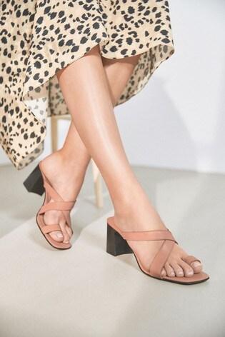 Buy Blush Leather Toe Loop Cross Over