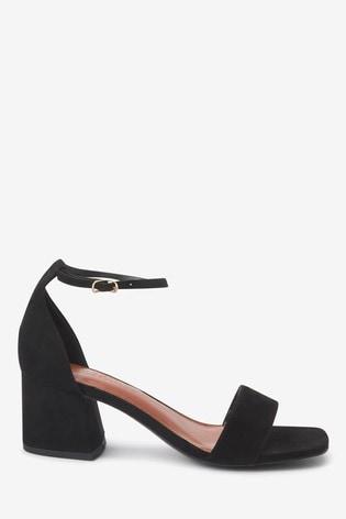 Black Regular/Wide Fit Forever Comfort® Simple Block Heel Sandals