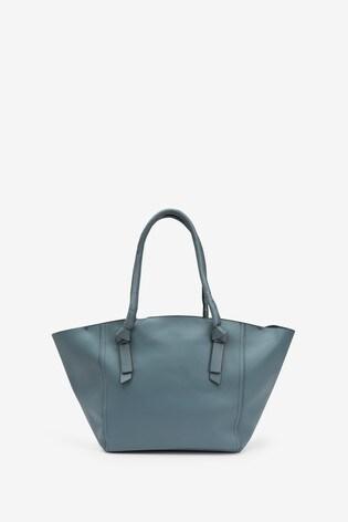 Blue Knot Handle Detail Shopper Bag