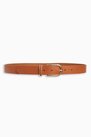 Tan Essential PU Jeans Belt