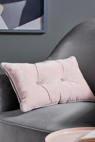 Button Velvet Cushion