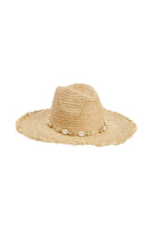 Neutral Shell Trim Floppy Hat