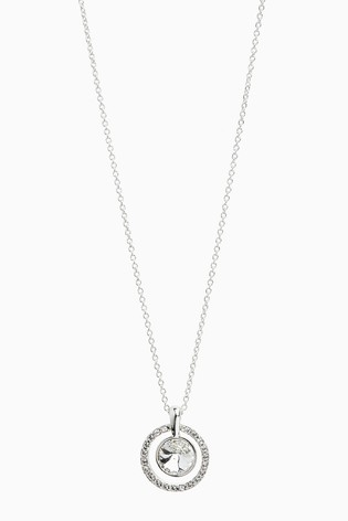 Silver Plated Sparkle Necklace With Swarovski® Crystals