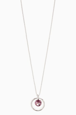 Silver Plated  Necklace With Swarovski® Crystals