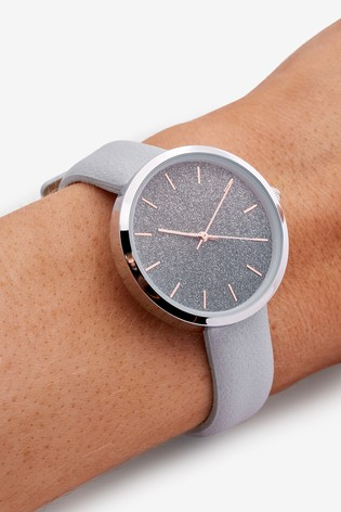 Blue Ombre Shimmer Dial Watch