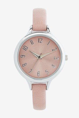 Pink Simple Strap Watch
