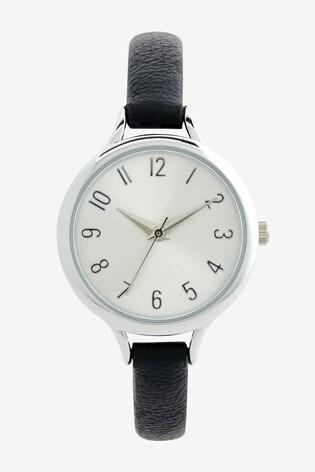 Black Simple Strap Watch