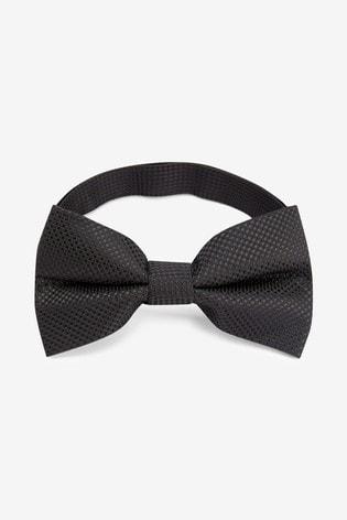 Black Textured Bow Tie