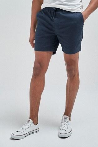 Navy Drawstring Waist Dock Shorts