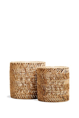 Woven Nest Of 2 Tables