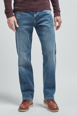 Blue Loose Fit Jeans With Stretch