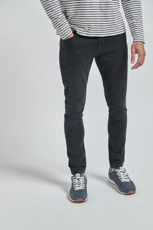 Dark Grey Super Skinny Fit Jeans With Stretch