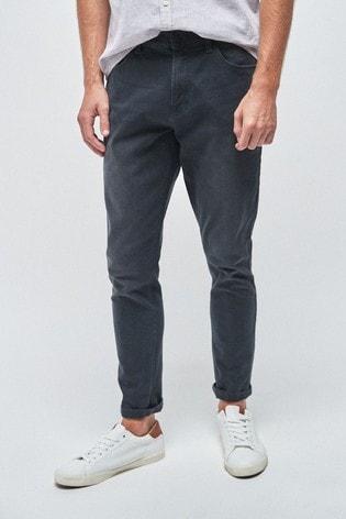 Dark Grey Skinny Fit Jeans With Stretch