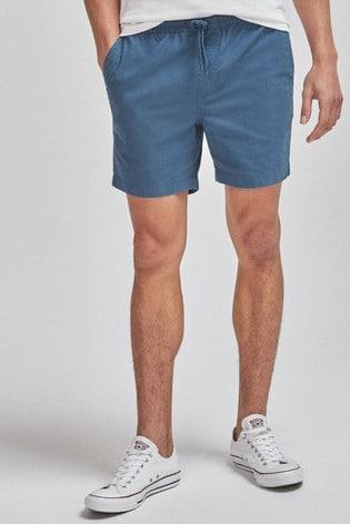 Blue Drawstring Waist Dock Shorts