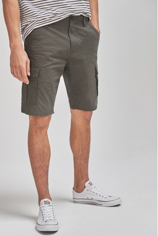 Khaki Cotton Cargo Shorts