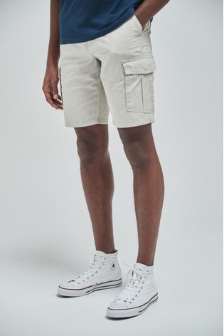 Light Stone Straight Fit Cotton Cargo Shorts