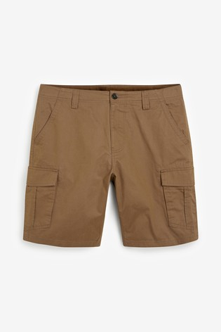 Tan Cotton Cargo Shorts