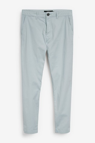 Light Blue Tapered Fit Casual Chino Trousers