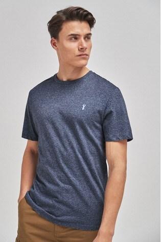 Blue Marl Regular Fit Stag T-Shirt