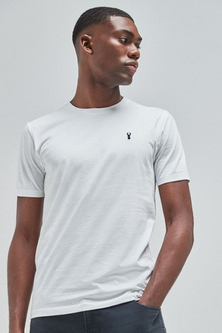 White Regular Fit Stag T-Shirt