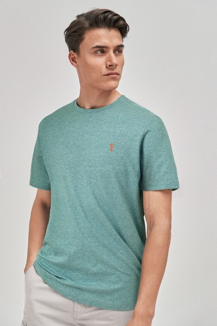 Mint Marl Regular Fit Stag T-Shirt