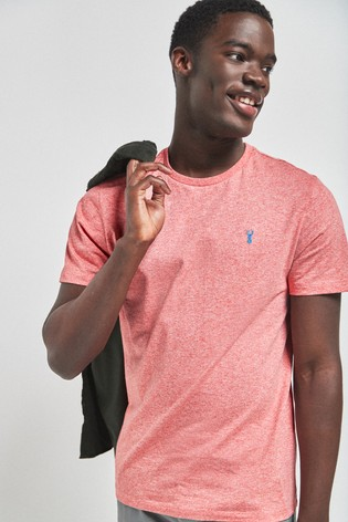 Pink Marl Regular Fit Stag T-Shirt