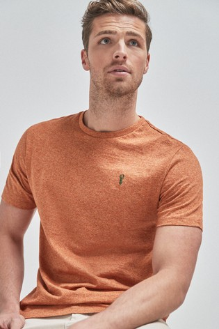 Orange Marl Regular Fit Stag T-Shirt