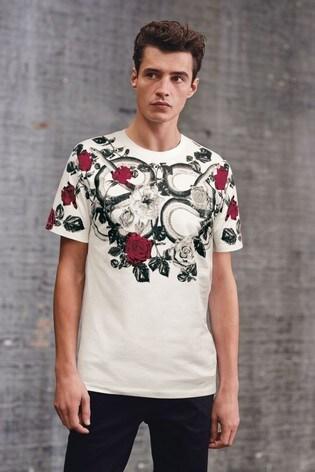 White Snake Graphic T-Shirt