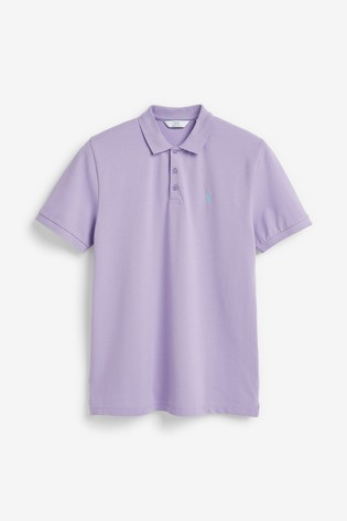 Lilac Regular Fit Pique Poloshirt
