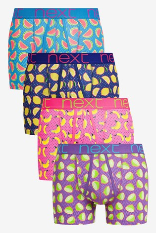 Bright Fruit Print A-Fronts Four Pack