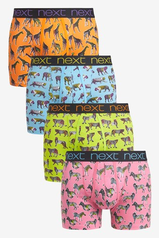 Safari Animals Print A-Fronts Four Pack
