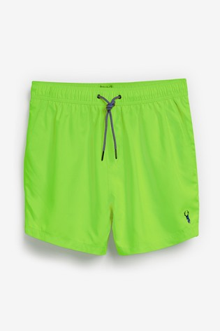 Neon Green Essential Swim Shorts