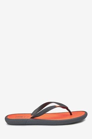 Orange/Grey Comfort Flip Flops