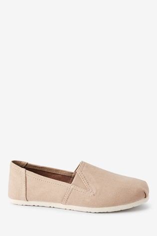 Pink Canvas A-Line Slip-Ons