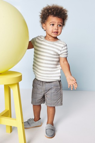 Charcoal Check Pull-On Shorts (3mths-7yrs)