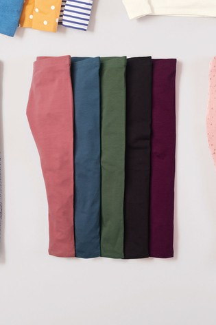 Muted 5 Pack Leggings (3-16yrs)
