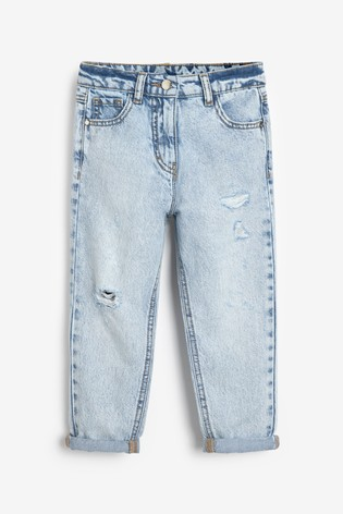 Bleach Wash Mom Jeans (3-16yrs)