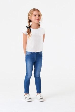 White Daisy Trim T-Shirt (3-16yrs)