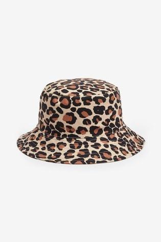 Tan Leopard Print Fisherman's Hat (Older)